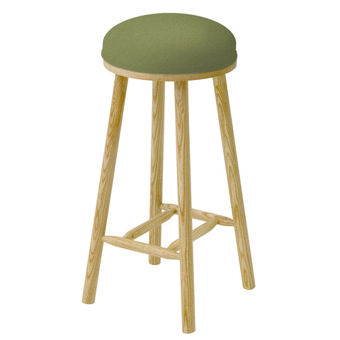 James Shaker Style Bar Stool Upholstered in House of Hackney Tigre