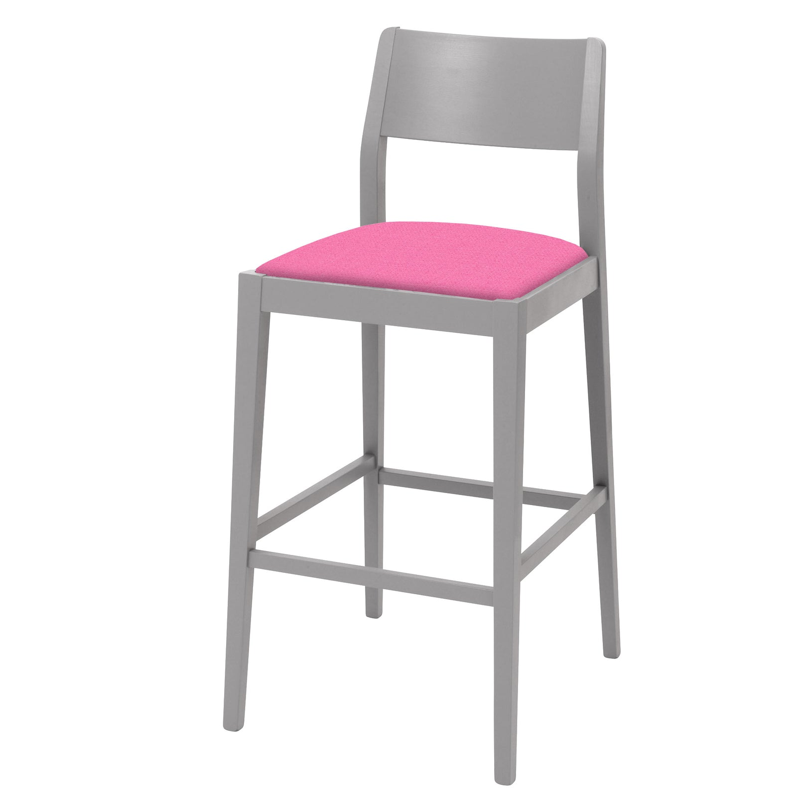 Shaker style bar stool individually upholstered in your chosen colourway
