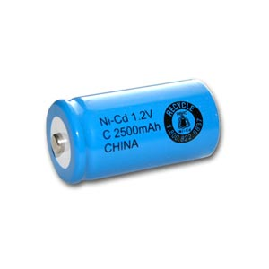 1.2V 2500MAH NICD BATTERY TERMINAL BUTTON TOP SIZE C SINGLE CELL (AS00854)
