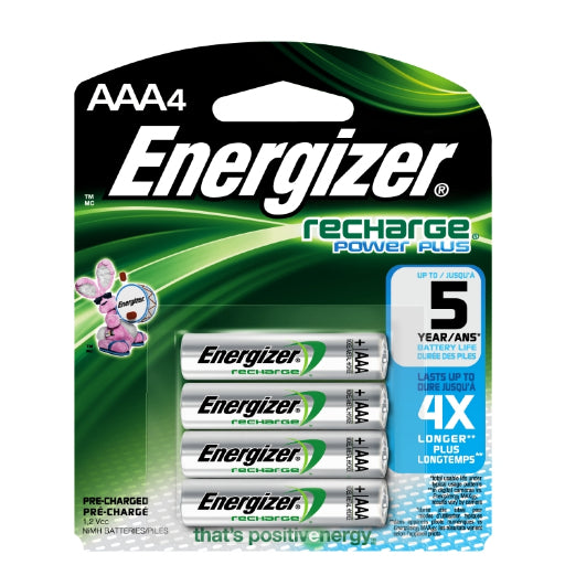 Energizer Recharge Power Plus AAA Batteries