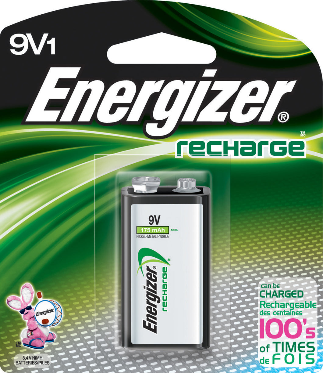 Energizer Recharge 9V Batteries