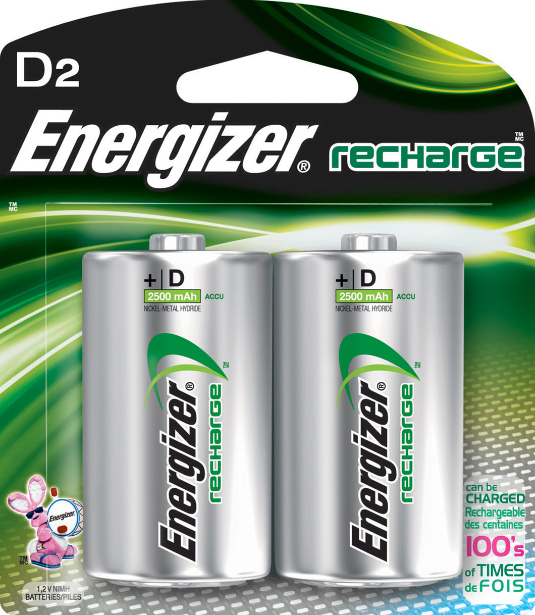 Energizer Recharge Power Plus D Batteries
