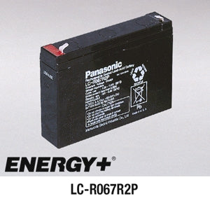 6V 7.2AH SLA BATTERY (LCR6V7.2P)