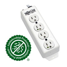 Tripp Lite Medical-Grade Power Strip, UL 1363, 4 Hospital-Grade Outlets, Antimicrobial, 15 ft. (4.57 m) Cord