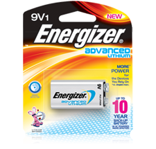 Energizer Advanced Lithium 9V Battery