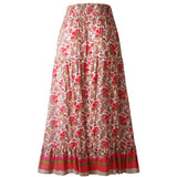 Summer Irregular Floral Long Skirt