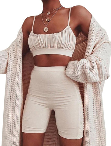 Summer Sexy Two Piece Shorts Set