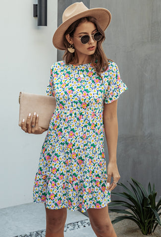 Summer A-Line Short Floral Casual Dress