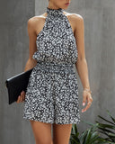 Summer Floral Scoop Short Rompers