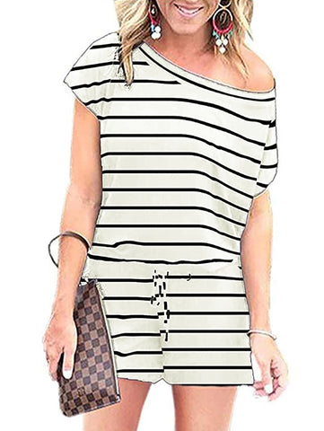 Summer Striped Leisure Rompers