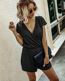 Summer Casual Wrapped Sheer Rompers