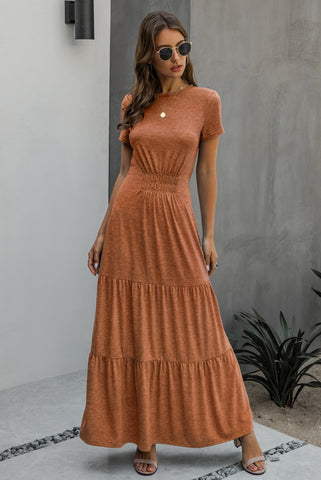 Summer O-Neck Sheer Long Maxi Dress