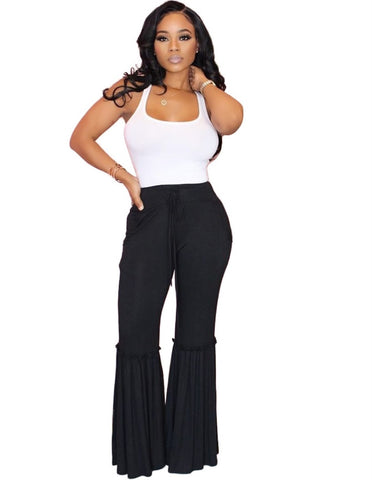 Summer High Waist Sheer Flare Pants