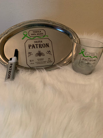 Cigars & Drink Tray Set