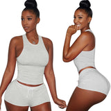 Summer Sports Two Piece Shorts Set