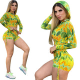Summer Tie Dye Two Piece Sporty Short Set