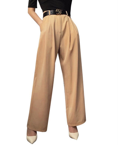 Western Stree Style High Waist Loose Trousers