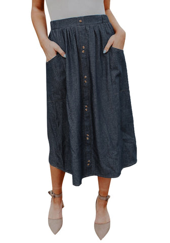 Summer Sheer High Waist Long Skirt with Pockets