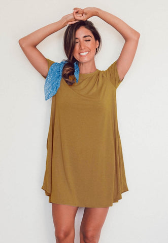 Summer Sheer Loose Shirt Dress