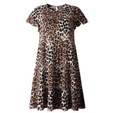 Summer Leopard Print A-Line Short Dress