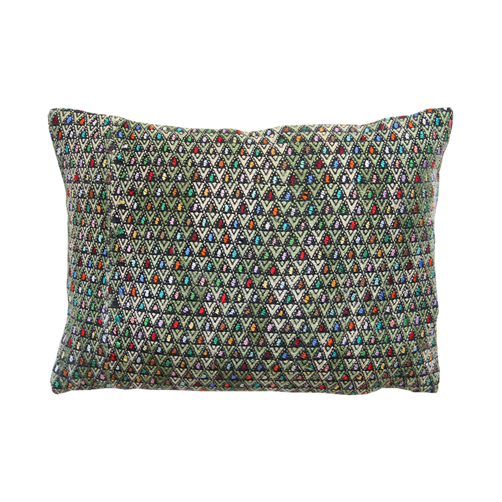 Huipil throw pillow