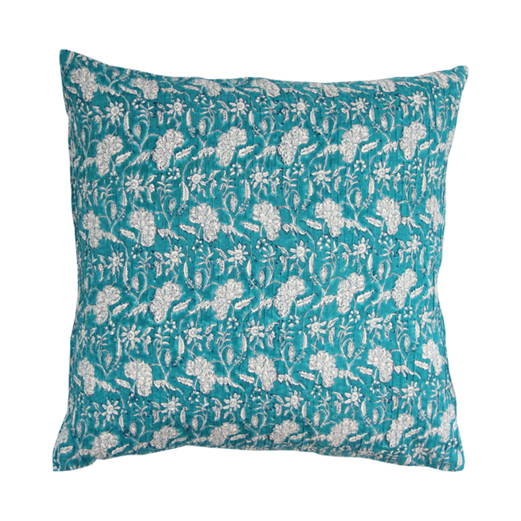 Block Print throw pillow