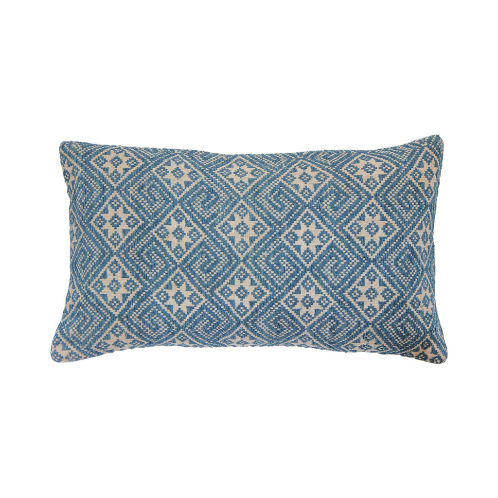 Lao indigo textile pillow