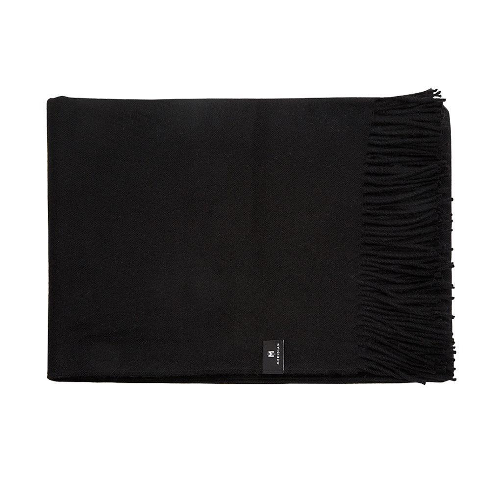 Alpaca Throw Blanket - Black - Meridian