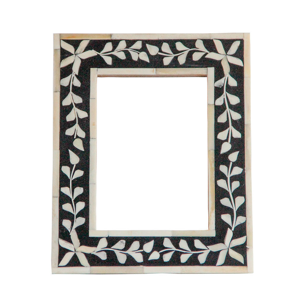 Handmade black bone inlay picture frame gift idea