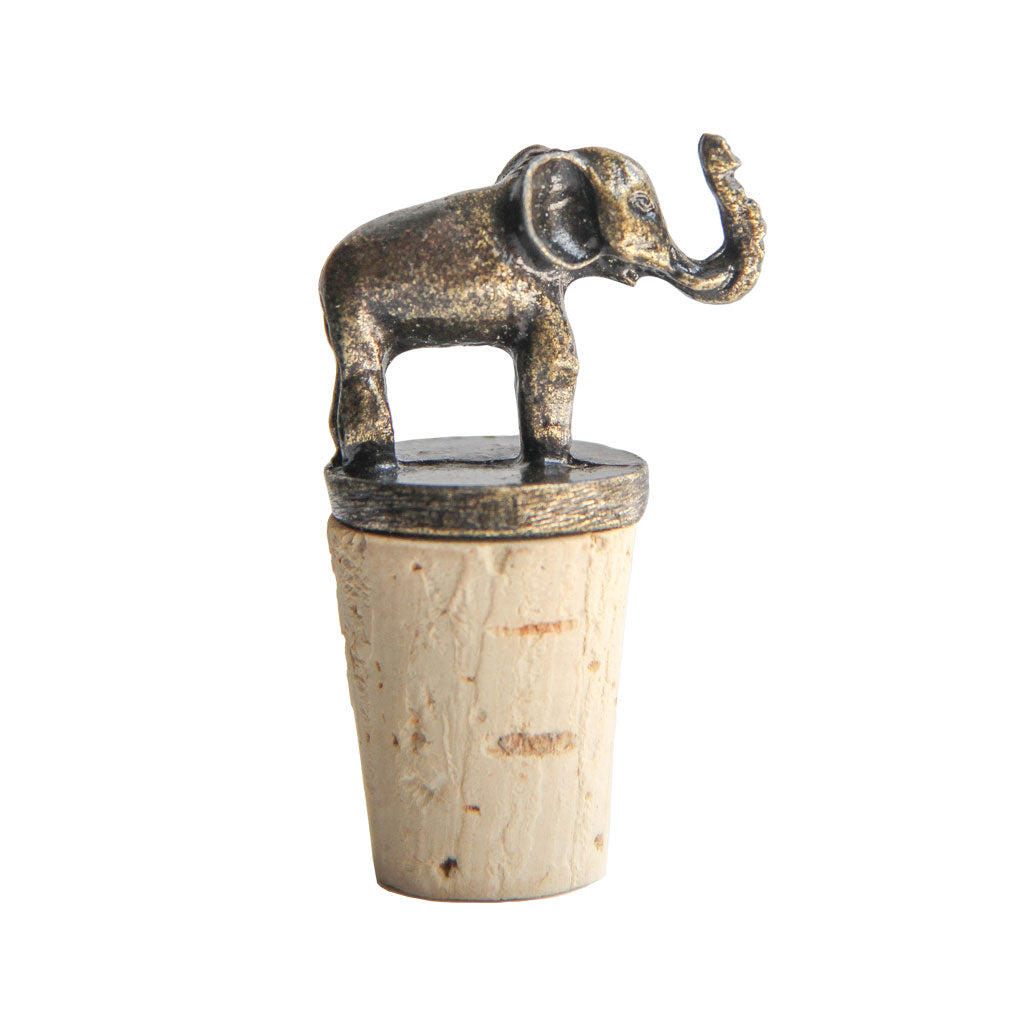 Handmade bottle stopper elephant