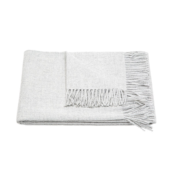 Meridian Baby Alpaca Throw Blanket Grey
