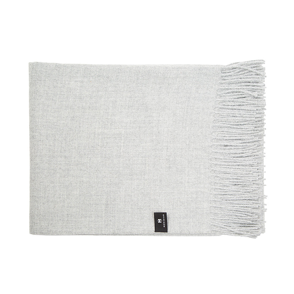Alpaca Throw Blanket - Grey - Meridian