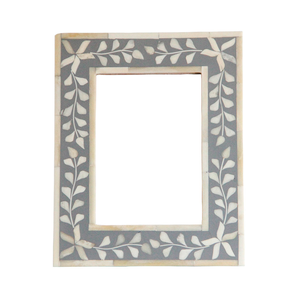 Handmade grey bone inlay picture frame gift idea