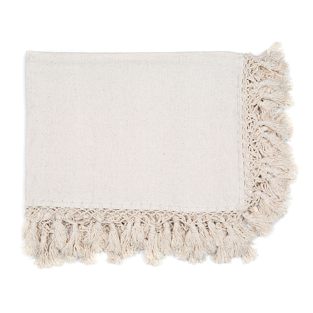 cotton throw blanket. meridian  handwoven cotton throw blanket from mexico