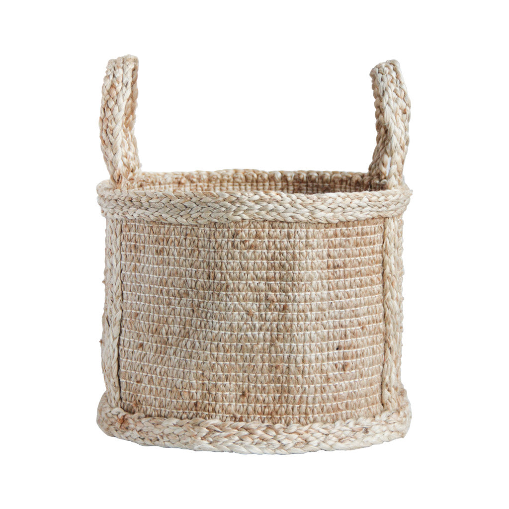 Handmade storage basket - neutral Fair Trade home decor
