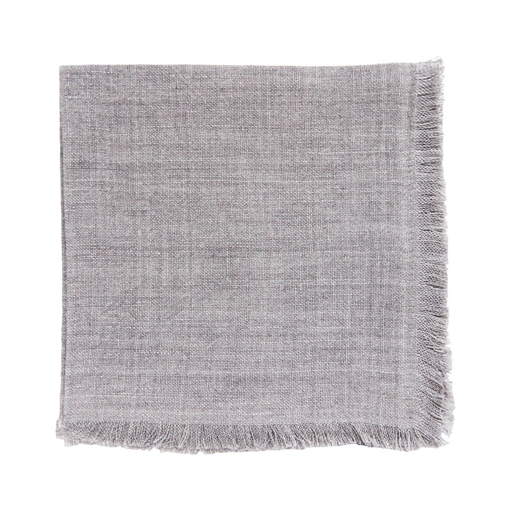 Stone washed linen cocktail napkins grey