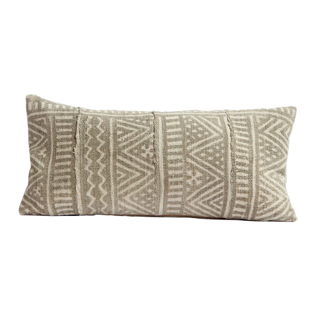 neutral mudcloth pillow