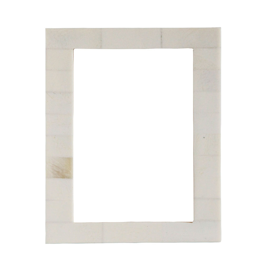 Handmade white picture frame bone inlay