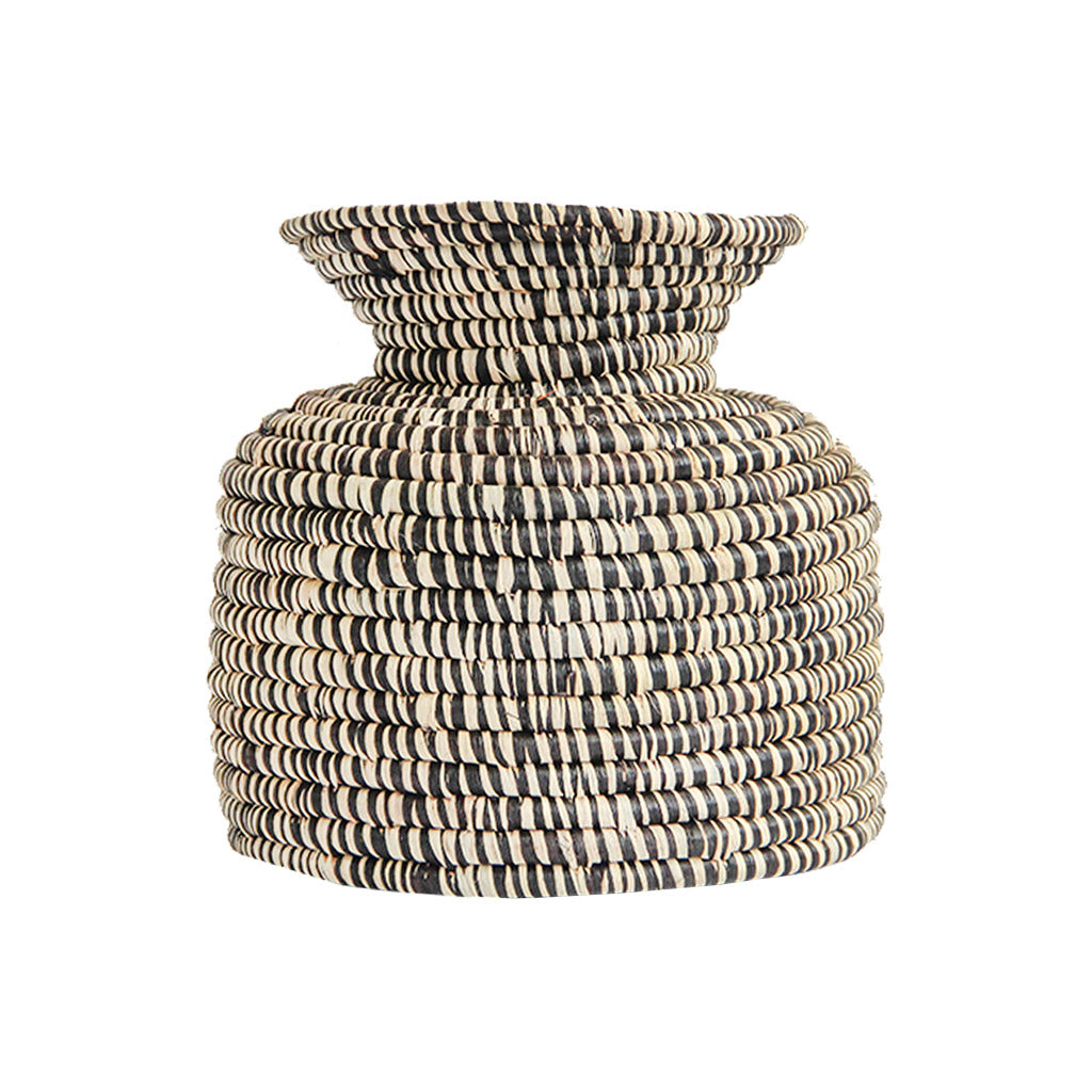 Hand woven kitchen storage basket