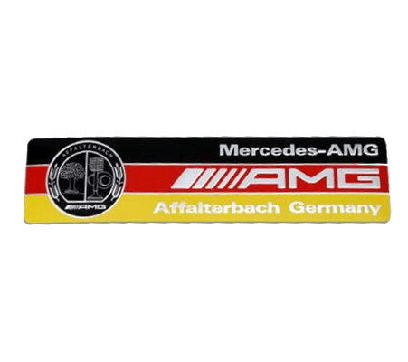 German Lights, Exclusive German AMG Emblem Sticker, Exclusive AMG,