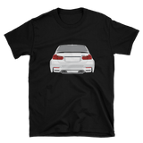 German Lights, Exclusive White BMW M3 Rear T-Shirt, ,