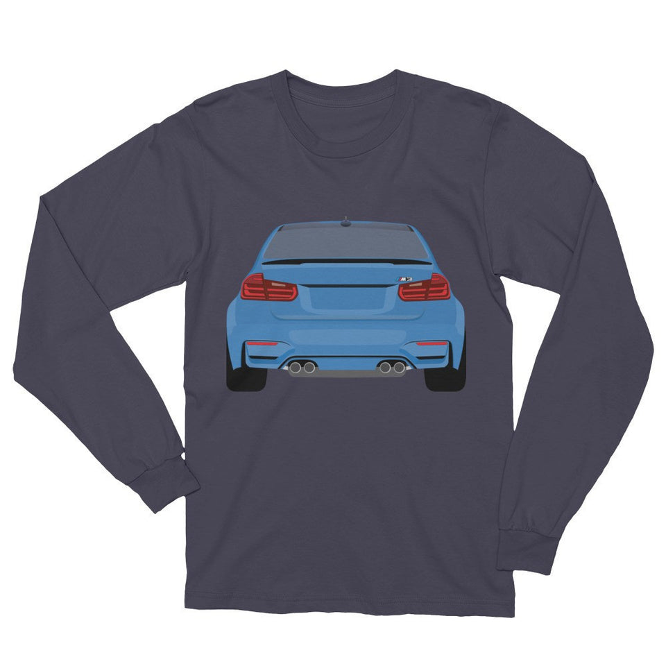 German Lights, Blue M3 Long-Sleeve Tee| German Lights Exclusive, ,
