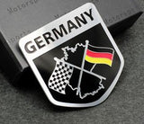 German Lights, German Sports Flag Emblem Sticker, Car sticker,
