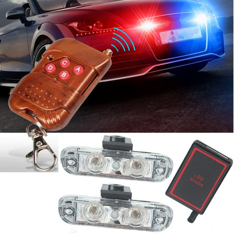 German Lights, 2 12V LED Remote Controlled Undercover Flashlights, undercover lights,