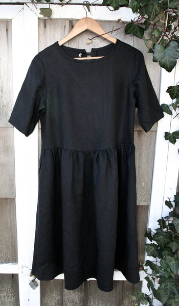 Oversized Black hemp dress