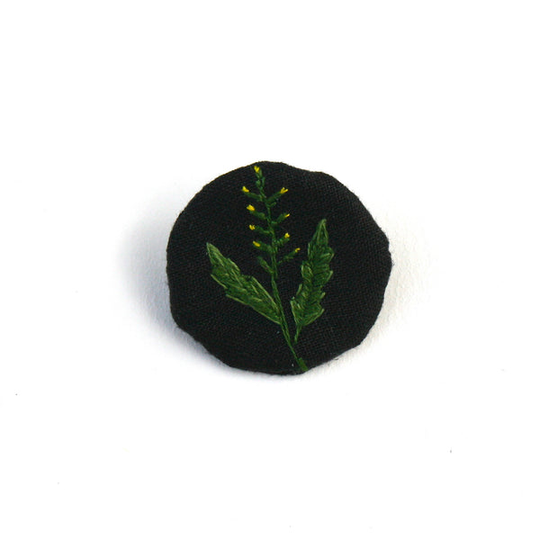 Brooch Green Herb