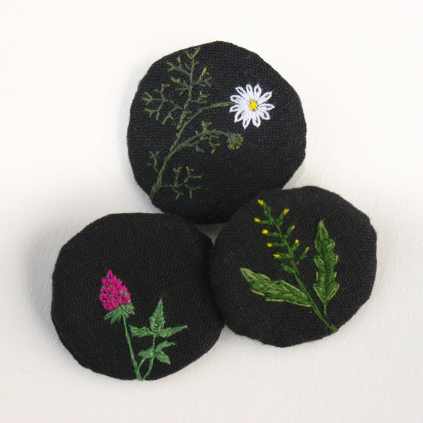 Brooches Wild Flowers 3 pcs