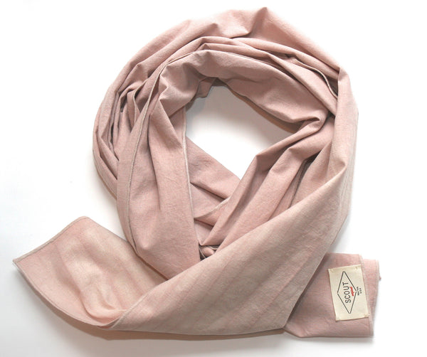 Dusty Rose Hemp Scarf