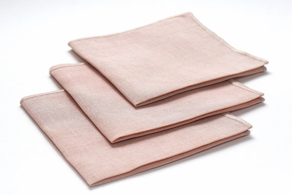 Hemp handkerchief dusty pink