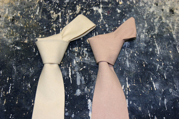 Handmade hemp ties